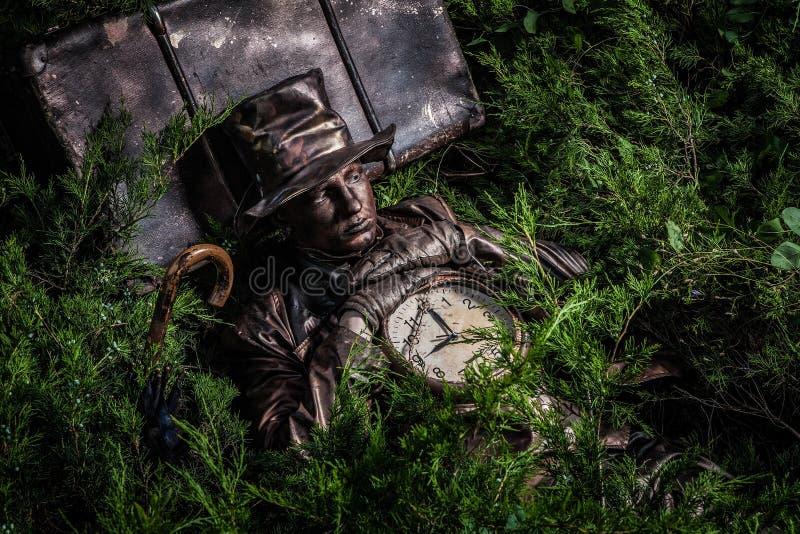 Imagem do relojoeiro no stylization brilhante da fantasia foto de stock