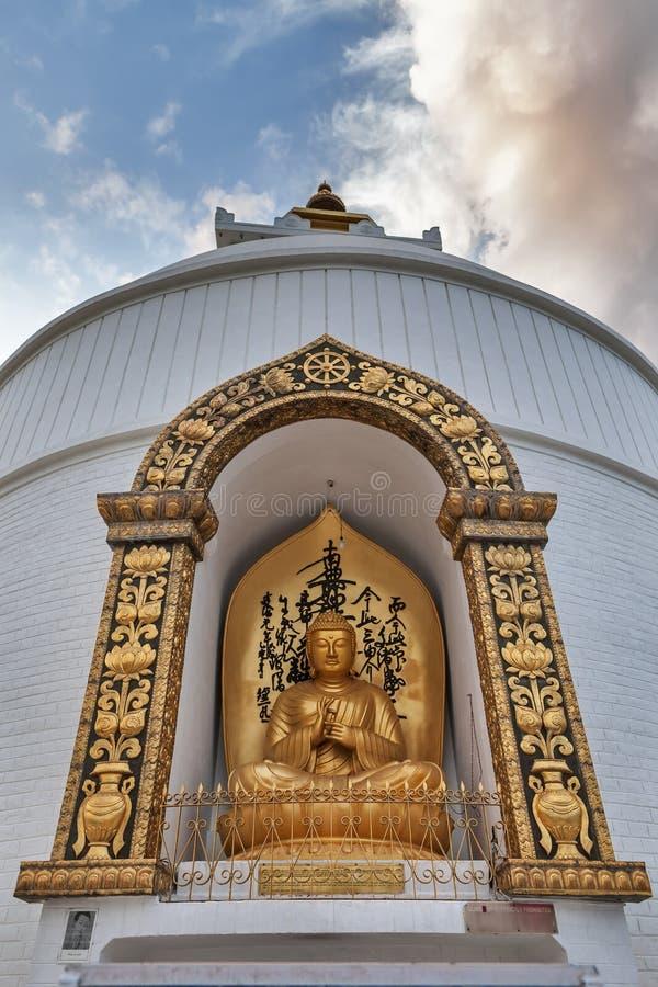 Imagem do ` s da Buda no mudra do dharmachakra fotografia de stock royalty free