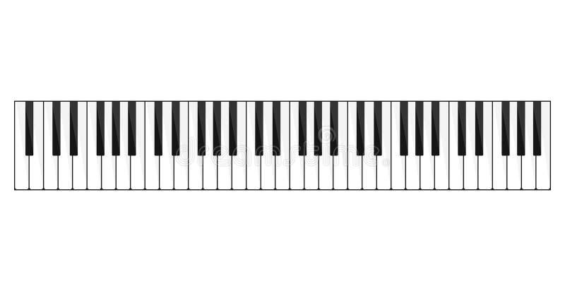 Imagem do teclado de piano ilustração do vetor