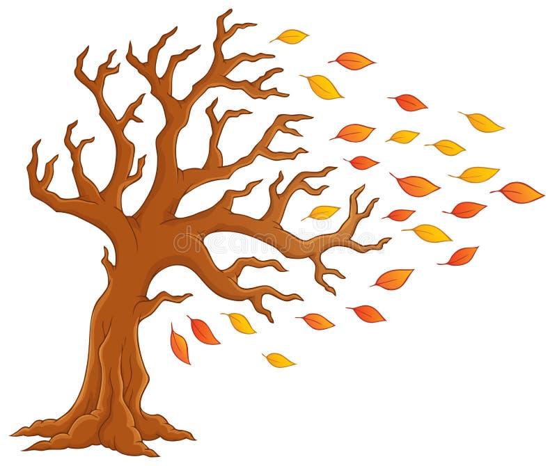 Imagem 1 do tema da árvore do outono ilustração royalty free