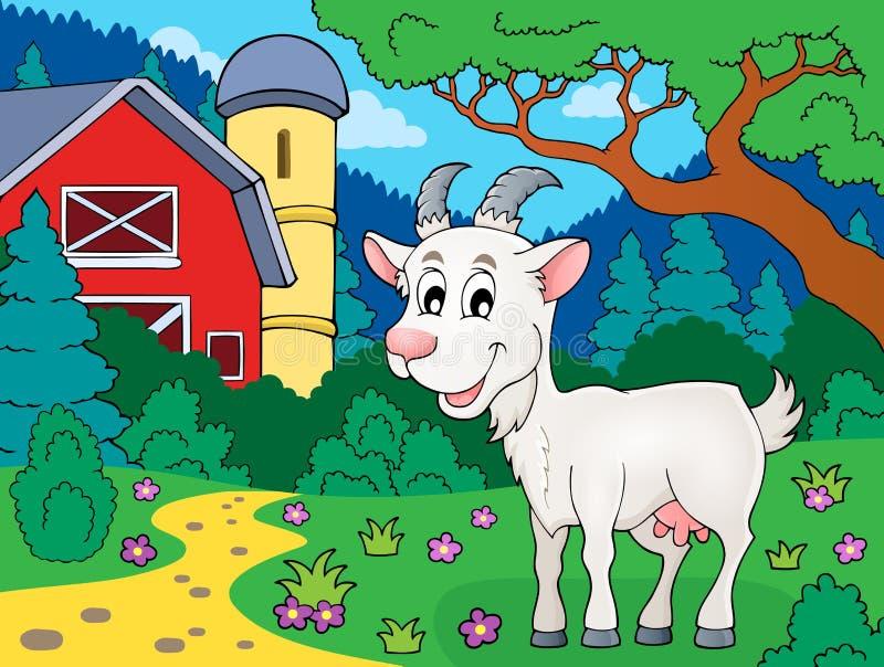 Imagem 4 do tema da cabra ilustração royalty free