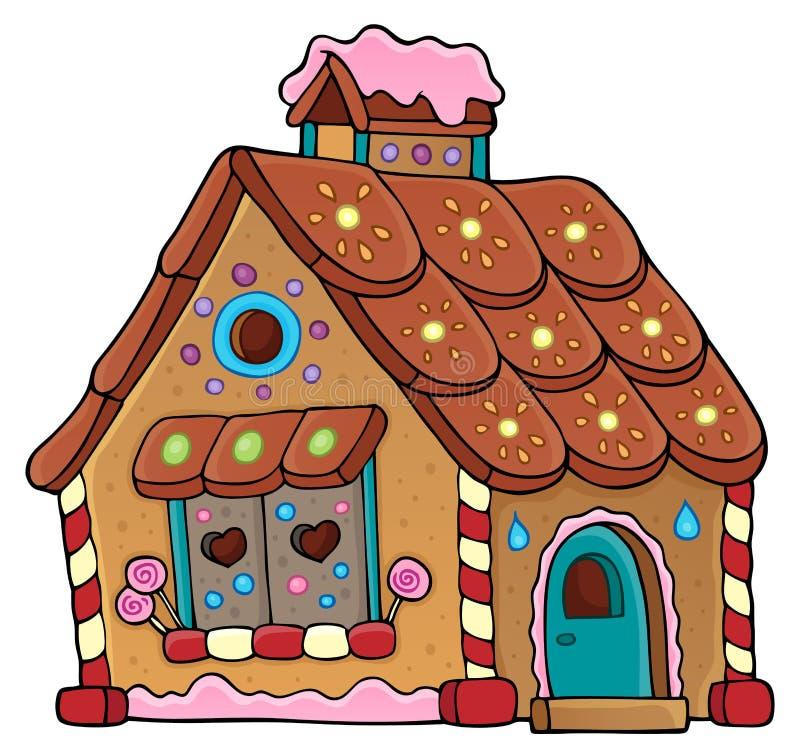 Imagem 1 do tema da casa de pão-de-espécie ilustração do vetor