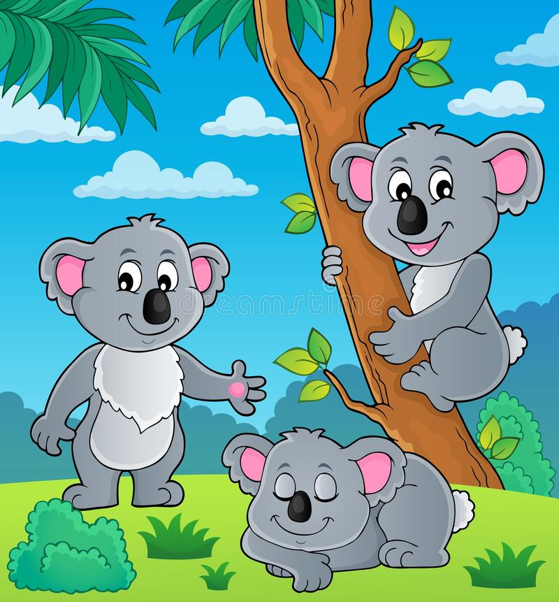 Imagem 1 do tema da coala ilustração royalty free