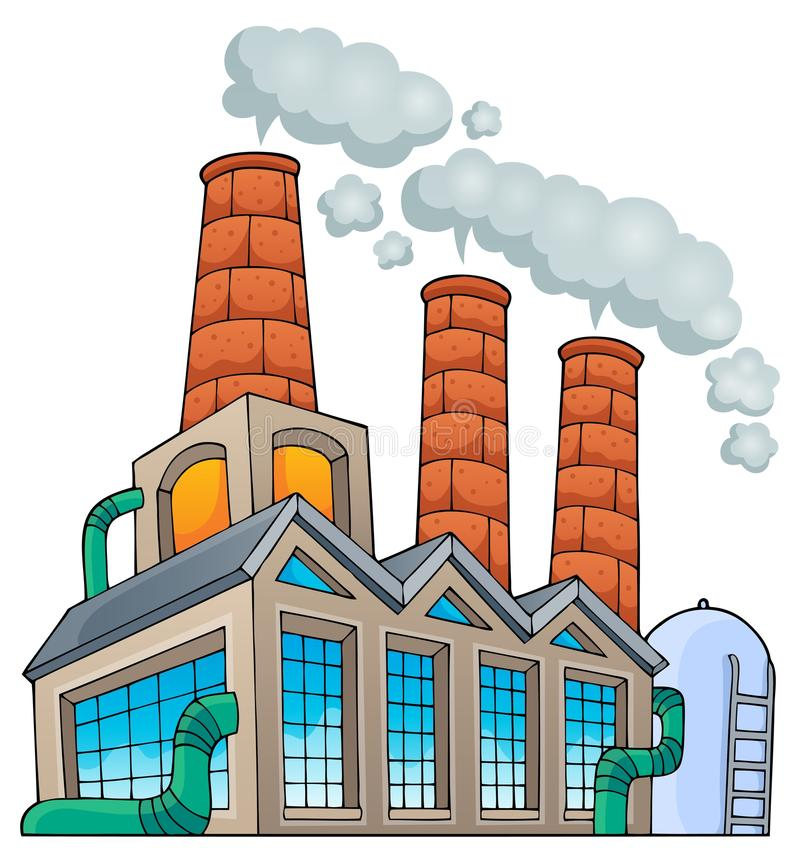 Imagem 1 do tema da fábrica ilustração royalty free