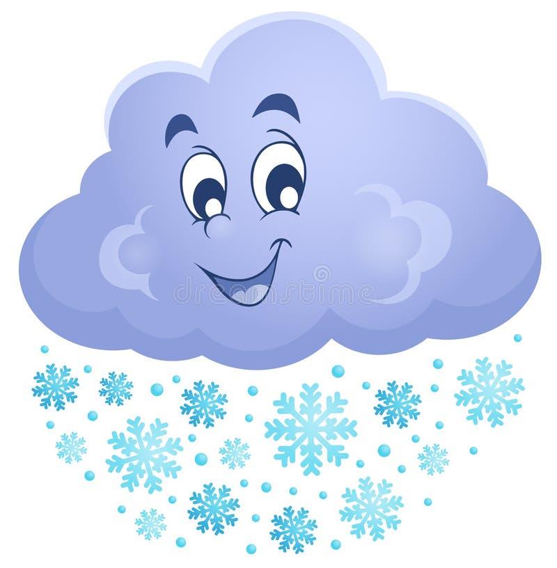 Imagem 1 do tema da nuvem do inverno ilustração do vetor