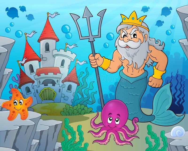 Imagem 3 do tema de Poseidon ilustração royalty free