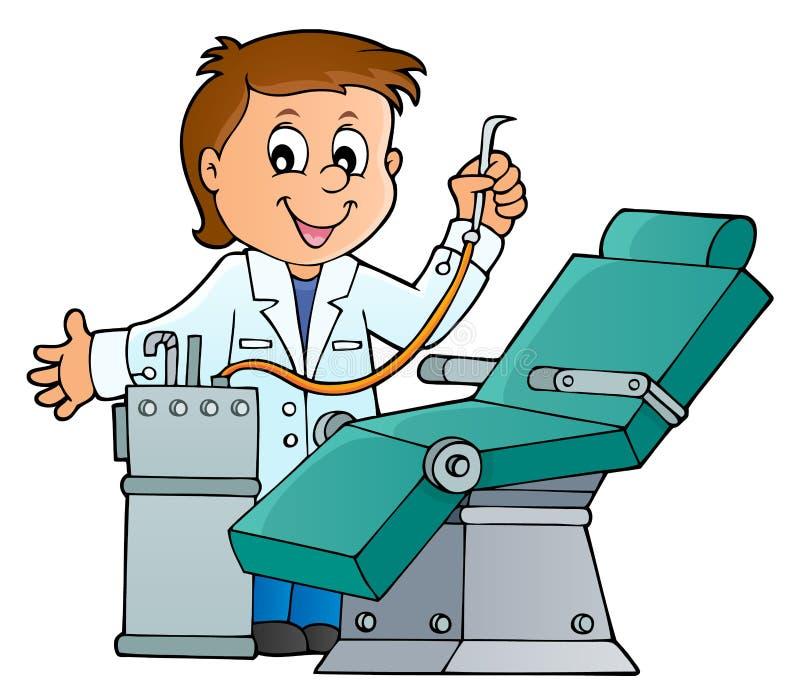 Imagem 1 do tema do dentista ilustração do vetor
