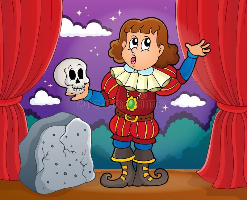 Imagem 2 do tema do ator ilustração stock