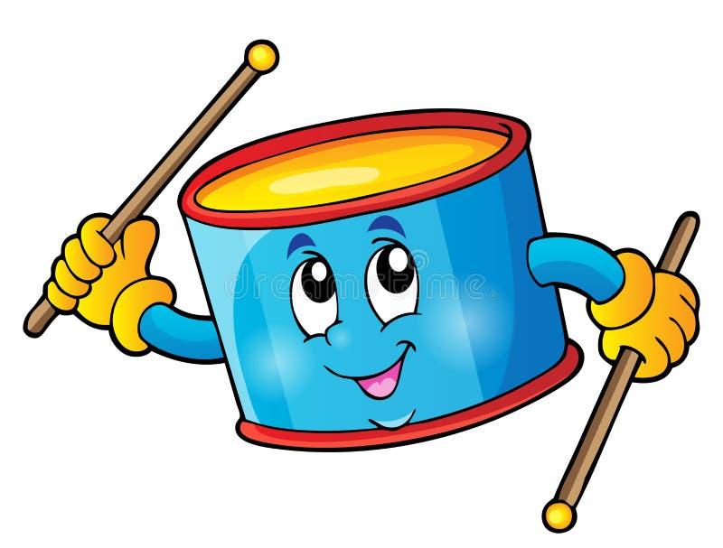 Imagem 1 do tema do cilindro da percussão ilustração do vetor