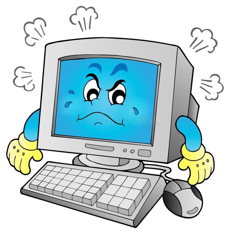 Imagem 1 do tema do computador ilustração stock