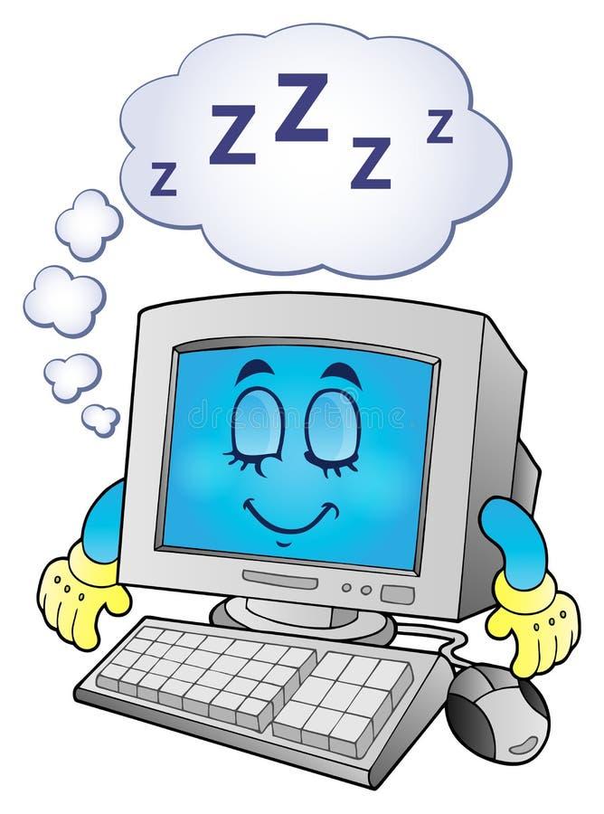 Imagem 2 do tema do computador ilustração do vetor