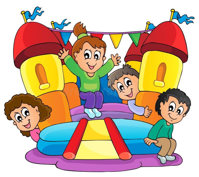 Imagem 9 do tema do jogo das crianças ilustração royalty free