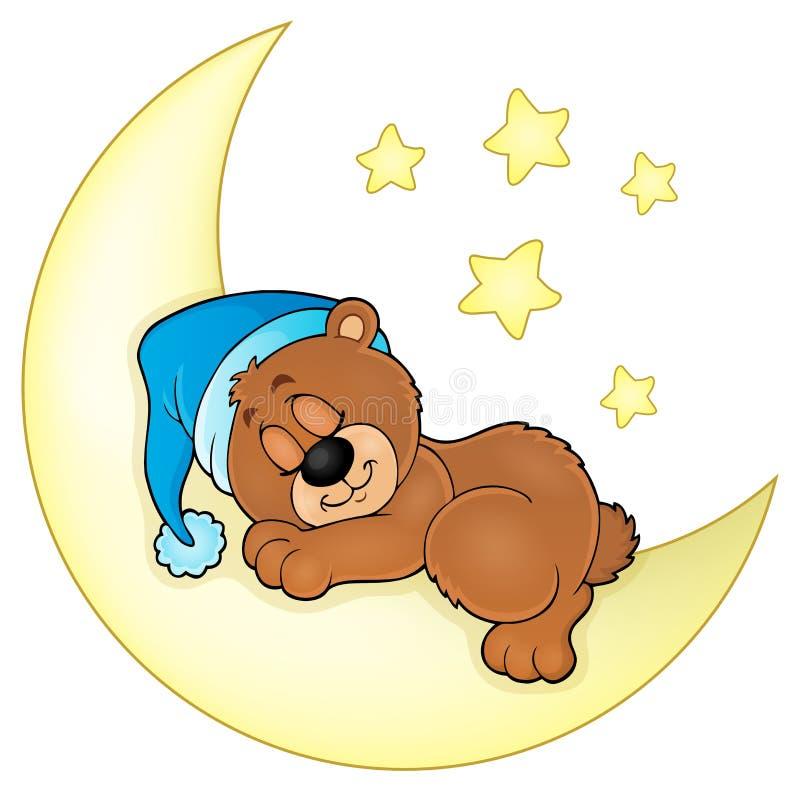 Imagem 4 do tema do urso do sono ilustração stock