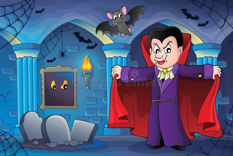 Imagem 7 do tema do vampiro ilustração stock