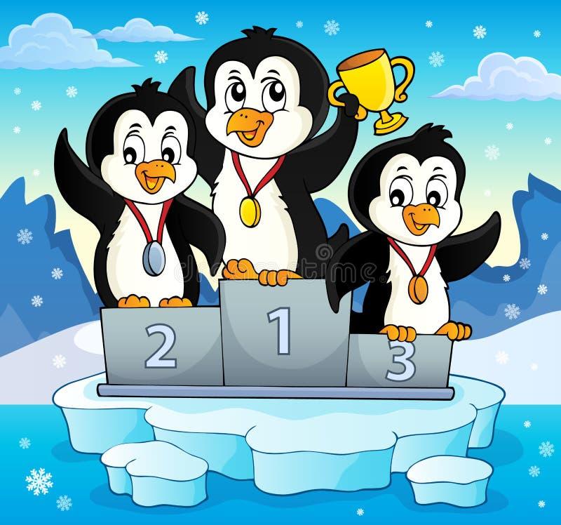 Imagem 3 do tema dos vencedores do pinguim ilustração royalty free