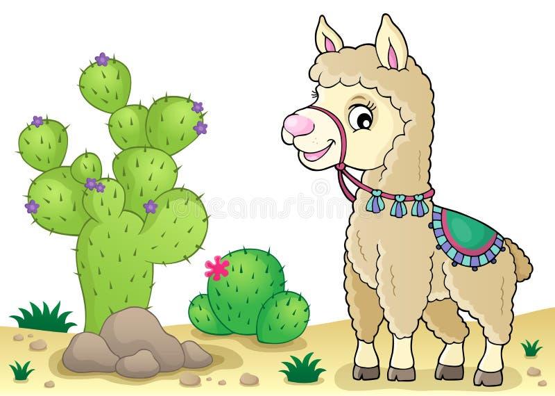 Imagem 2 do tema do lama ilustração do vetor