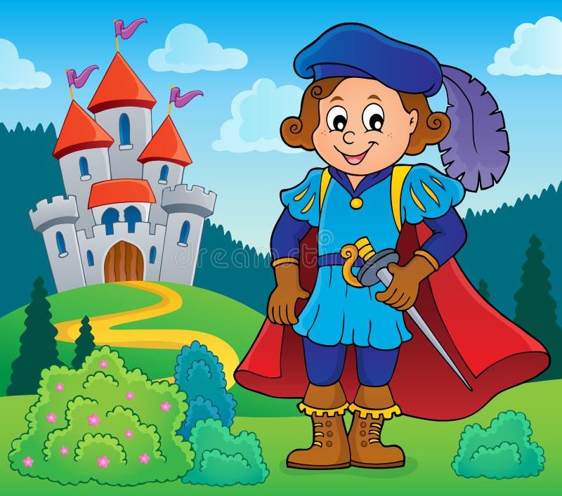Imagem 5 do tema do príncipe ilustração do vetor