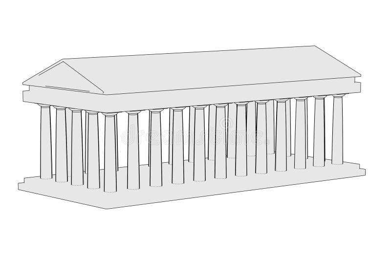 Imagem do templo doric ilustração royalty free