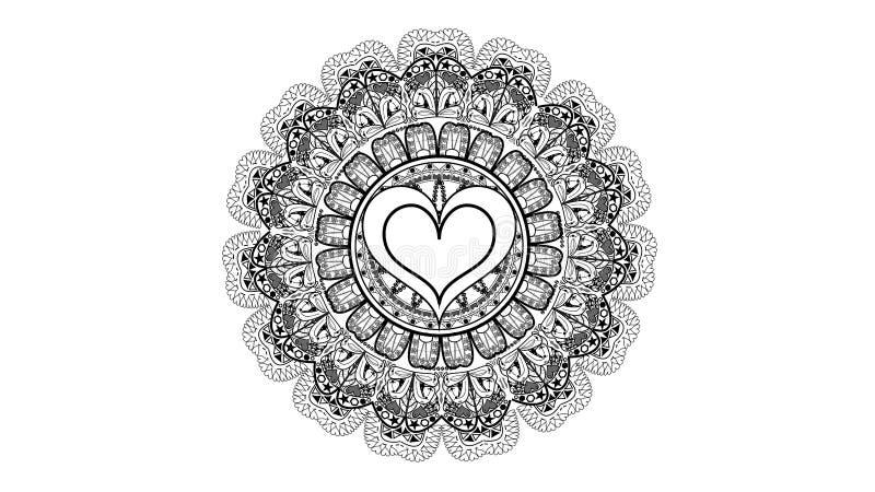 Imagem do teste padrão dos corações fotos de stock