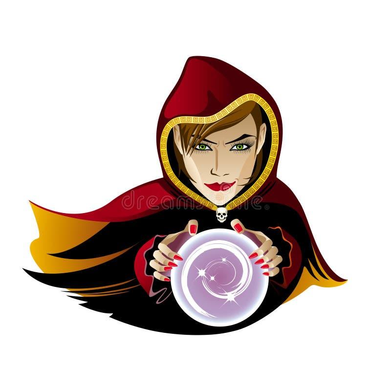 Imagem do vetor do caixa de fortuna com bola de cristal ilustração do vetor