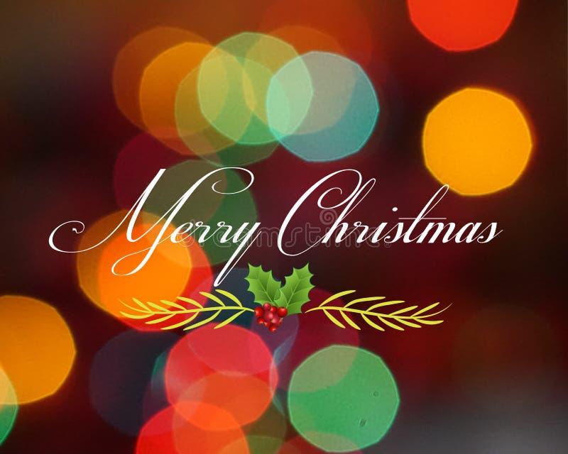 Imagem do vetor do cartão de cumprimentos do Natal foto de stock