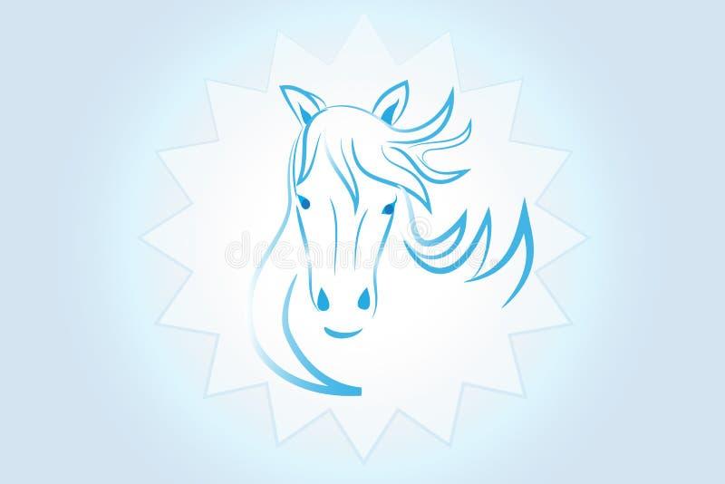 Imagem do vetor do cavalo da beleza do logotipo ilustração royalty free