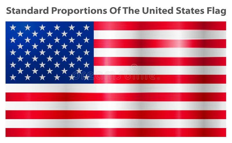 Imagem do vetor da bandeira americana ilustração stock