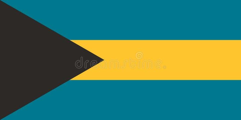 Imagem do vetor da bandeira do Bahamas ilustração stock