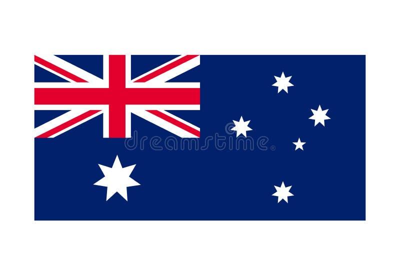 Imagem do vetor da bandeira de Austrália símbolo nacional do país ilustração royalty free