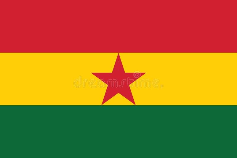 Imagem do vetor da bandeira de Gana ilustração royalty free