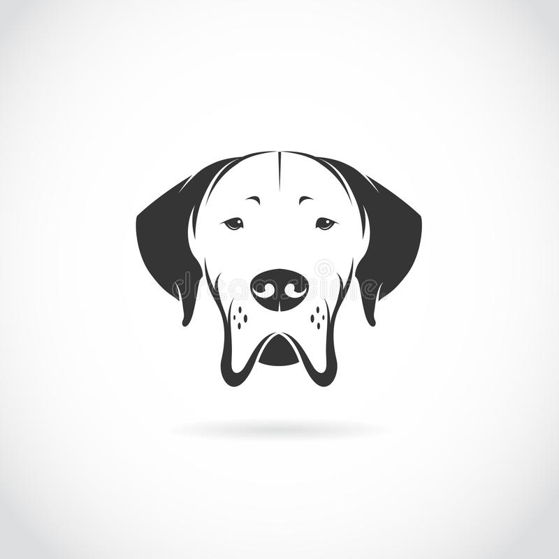 Imagem do vetor da cabeça de cão ilustração royalty free