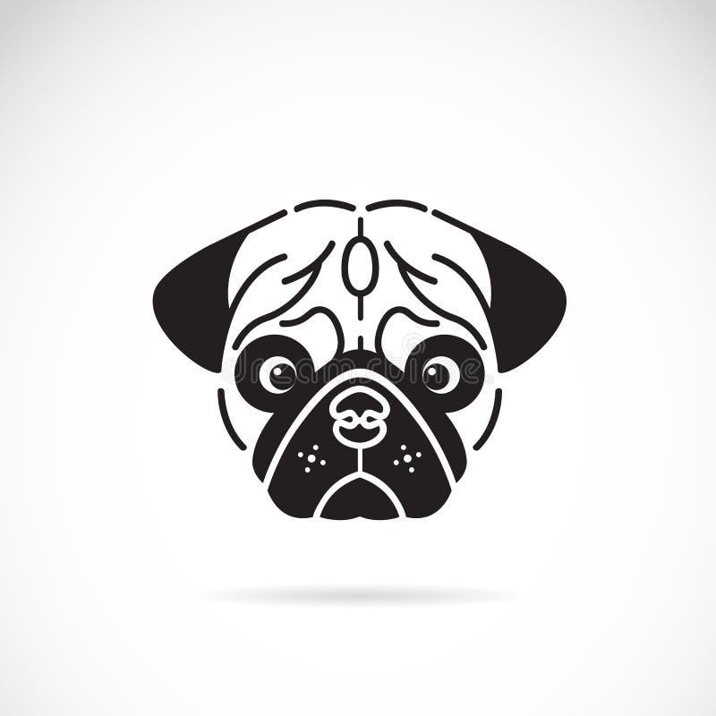 Imagem do vetor da cara do pug ilustração stock
