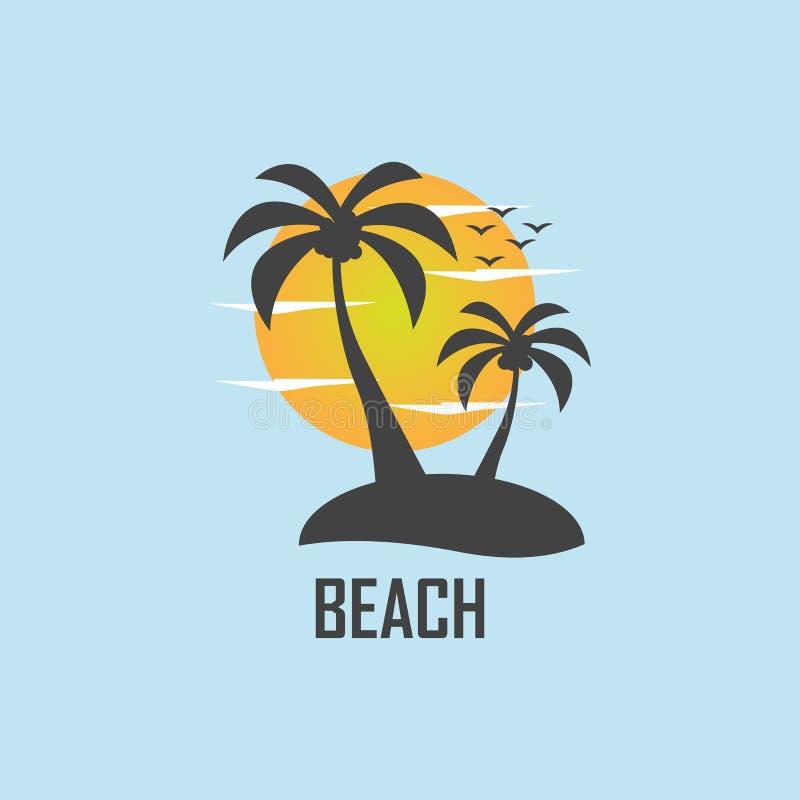 imagem do vetor da praia do verão ilustração royalty free