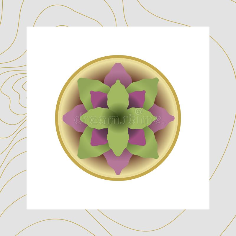 Imagem do vetor das flores e das plantas em uns potenciômetros, ikebana ilustração royalty free