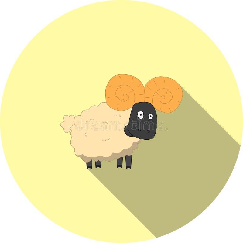Imagem do vetor de carneiros dos desenhos animados ilustração stock