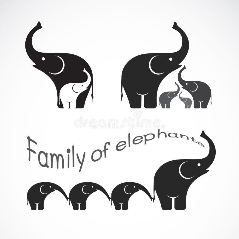 Imagem do vetor de elefantes da família ilustração do vetor