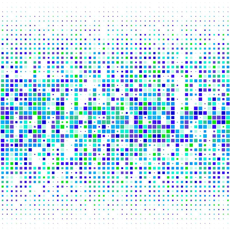 Imagem do vetor de pontos coloridos dos quadrados de tamanhos diferentes no branco ilustração royalty free