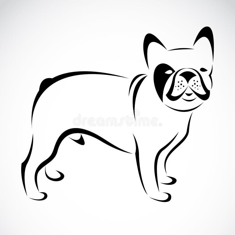 Imagem do vetor de um cão (buldogue) ilustração royalty free