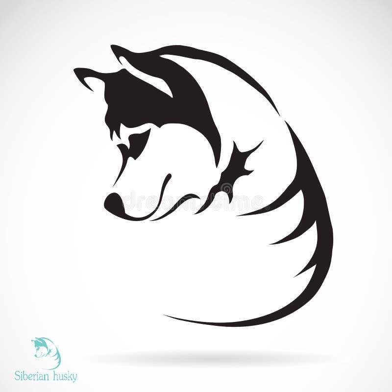 Imagem do vetor de um cão de puxar trenós siberian do cão ilustração stock