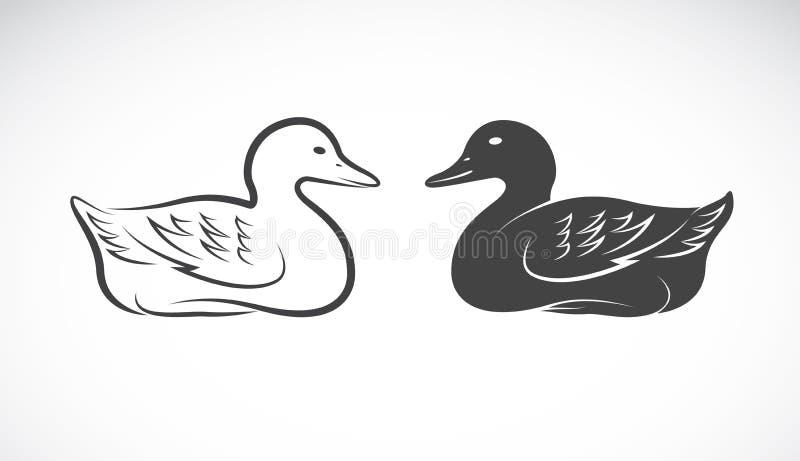 Imagem do vetor de um pato ilustração do vetor