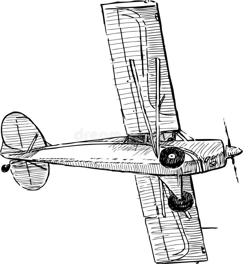 Avião do vôo ilustração do vetor