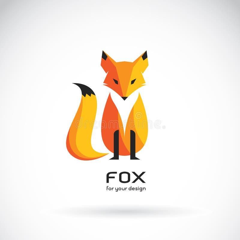 Imagem do vetor de um projeto da raposa em um fundo branco ilustração royalty free