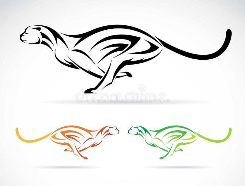 Imagem do vetor de um tigre do cão (chita) ilustração do vetor