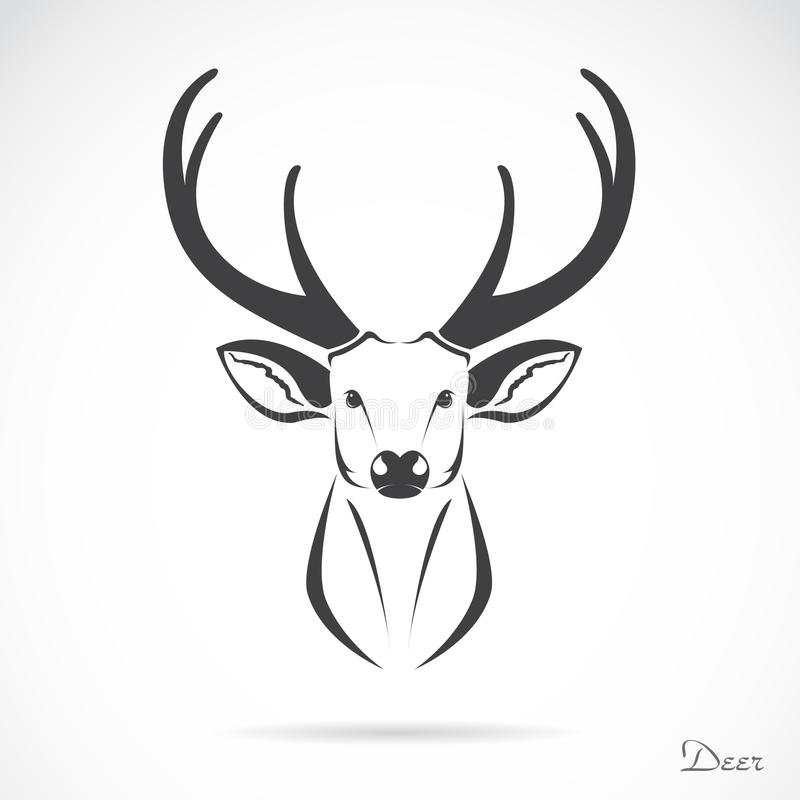 Imagem do vetor de uma cabeça dos cervos
