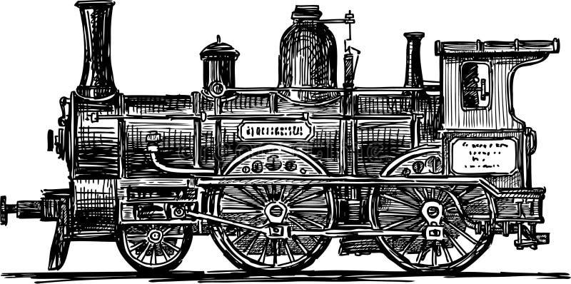 Locomotiva ilustração royalty free