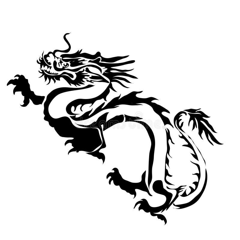 Imagem do vetor do dragão do esboço ilustração stock
