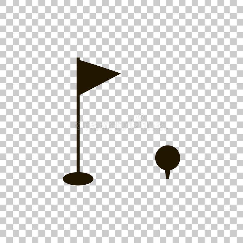 Imagem do vetor do golfe Ostenta o símbolo ilustração stock
