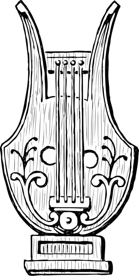 Download Lyre ilustração do vetor. Ilustração de stringed, revival - 29833126