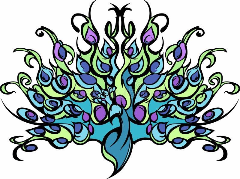 Imagem do vetor do pavão ilustração do vetor