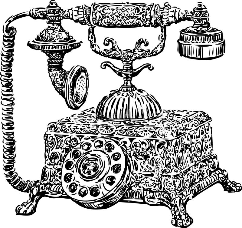 Telefone antigo ilustração stock